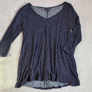Women's maternity stripe 3/4 sleeve top